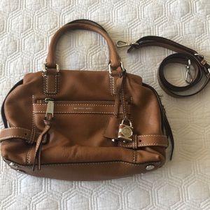 Michael Kors Brown Leather Satchel Handbag